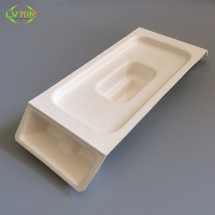 Environmental friendly molded paper pulp phone electronic parts tray disposable trays