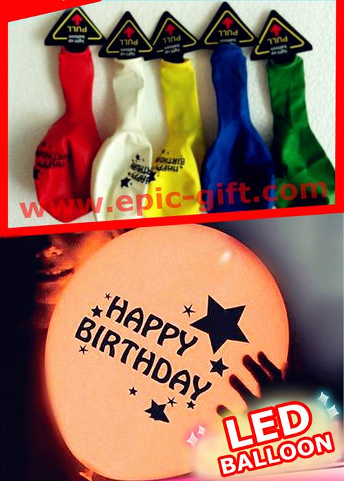 LED flashing balloon for birthday party decoration