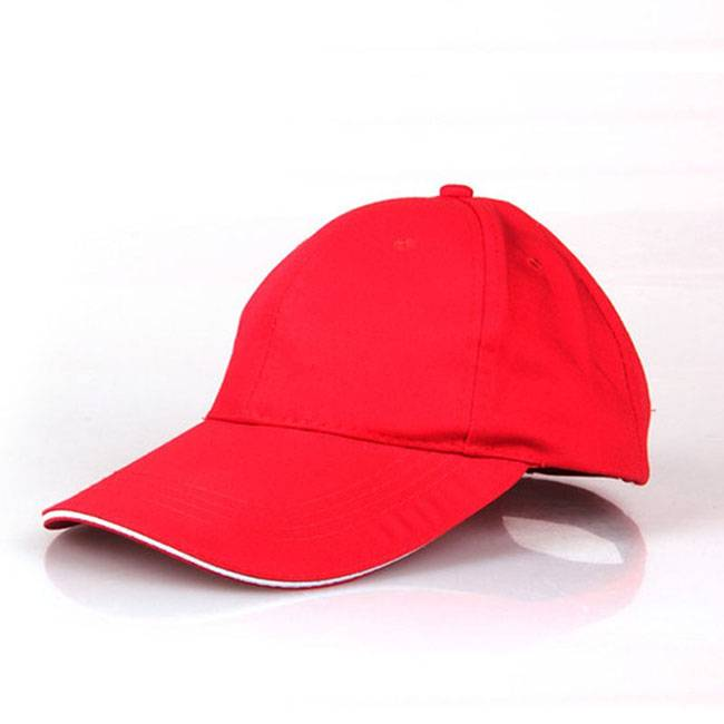 Red Cotton Embroidered Headwear Sport Caps Baseball Hats
