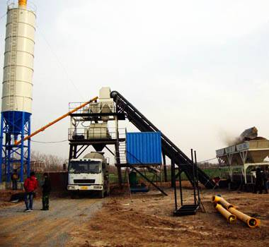 YHZS75 Mobile Concrete Mixing Plant