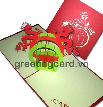 Dragon ball 3D pop up greeting card