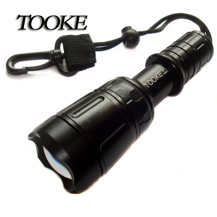 Tooke V1 Creexml T6 LED 1000 Lumen Strong Light Diving Flashlight Video Torch