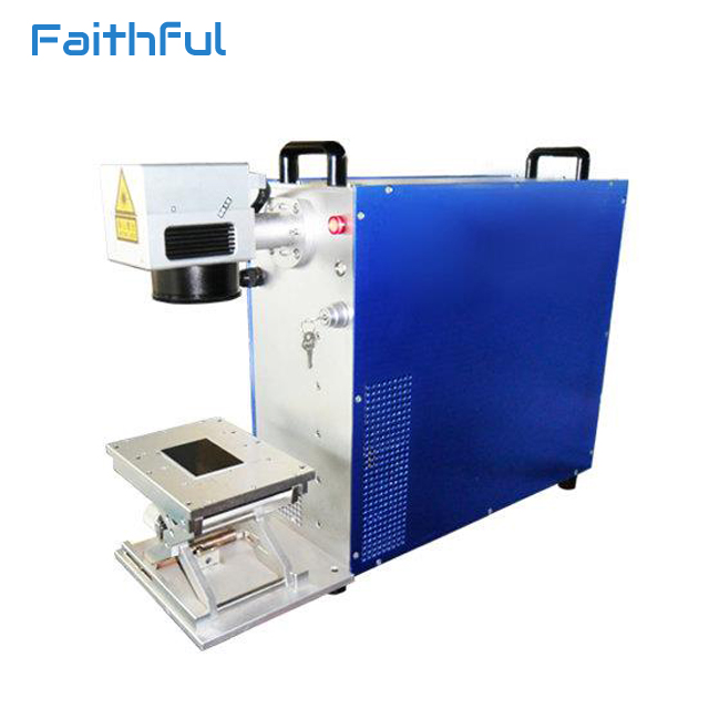 Fast shipping optical 20W fiber metal laser marking machine for steel