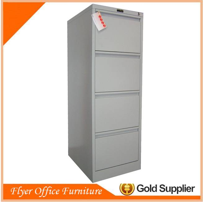 Metal furniture four drawer vertical office cabinet