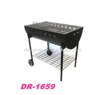Heavy duty outdoor bbq grill with wheels