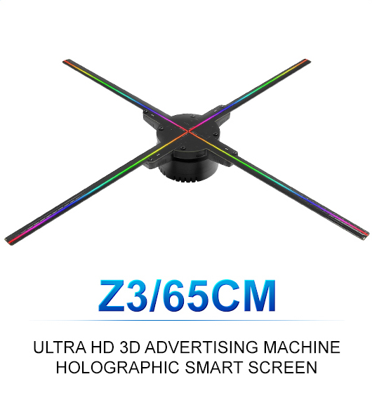 ZIoT 65cm Wifi 3D Holographic Projector Hologram Player LED Display Fan R&D Manufacturers Factory