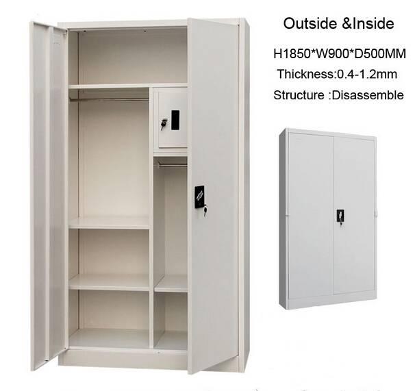 2016 latest cheap metal steel wardrobe cabinet designs
