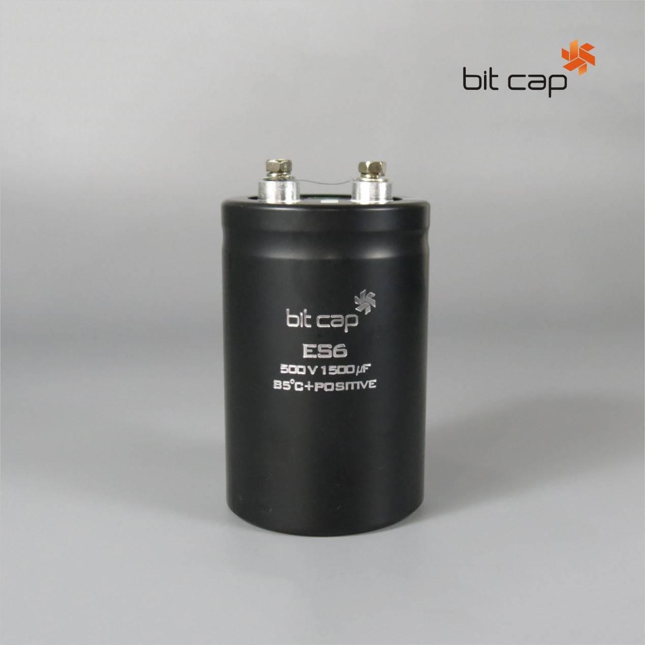 bit cap ES6  500V 1500uF  aluminum electronic capacitors