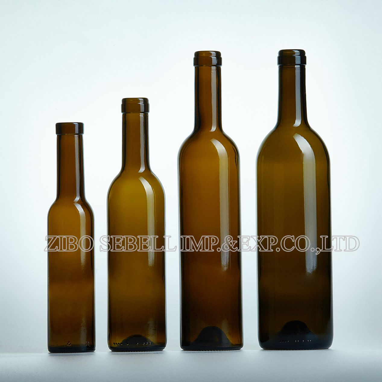 200/375/750ml dark green color wine bottle in cork top