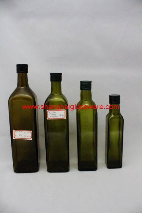 olive glass bottles
