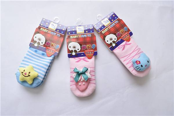 Anti-slip shoe socks soft rubber sole baby shoe socks cartoon shoe socks