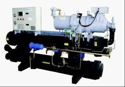 Flooded water/ground source heat pump unit