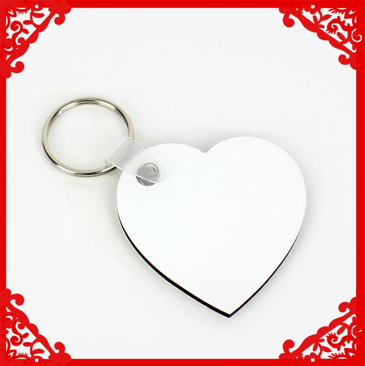 Sublimation blank MDF key ring sublimation key chain heat transfer key ring