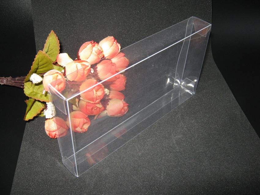 Clear plastic folding boxes Gift Package Box Cosmetic Bottle Wedding Favor Packing PVC Boxes Free Sh
