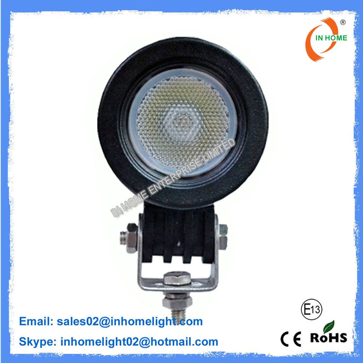Portable 10W Round LED Work Lamps Energy Saving Heavy Duty Led Work Light