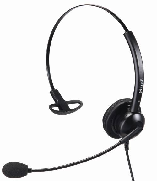 Single Earpiece telephone headset for call center