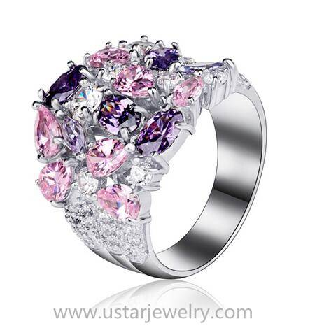 Silver 925 Gemstone Ring Jewelry Wholesale Factory