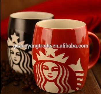 10*8cm Customized Starbucks With Silicone Lid Porcelain Coffee Cup