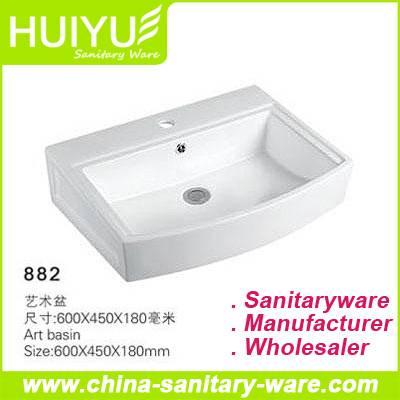 Super White Natural  Ceramic basin Sanitary Ware