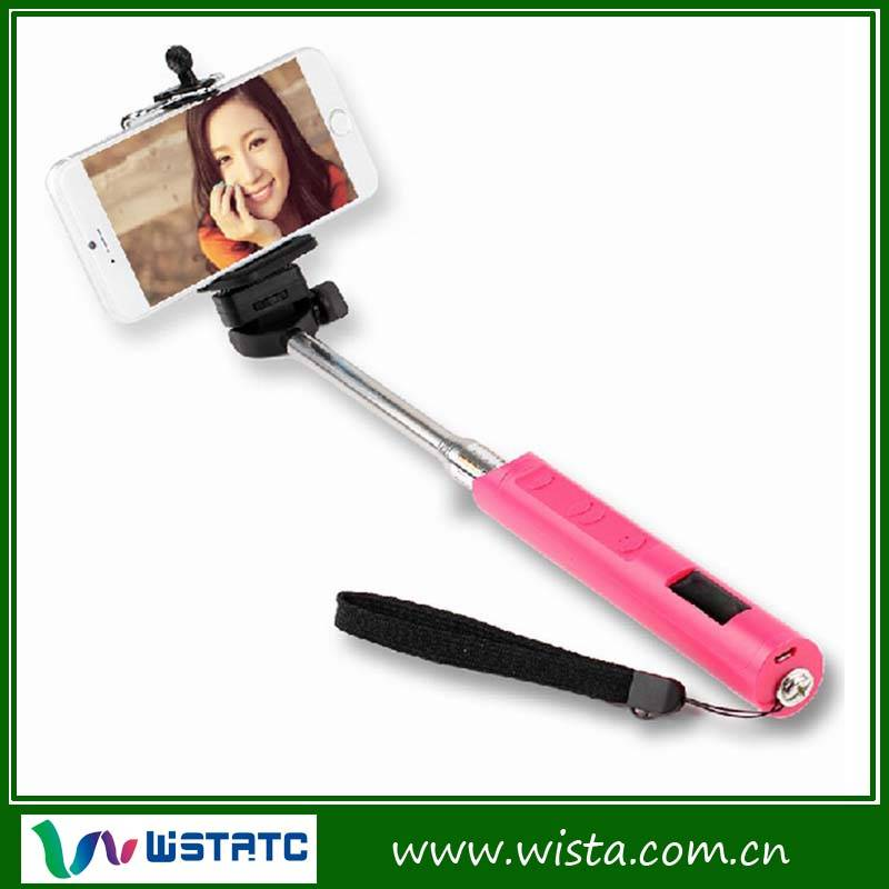 Mobile phone camera monopod bluetooth self timer shutter release