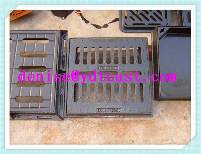 55cm ductile iron gully grating/export nodular cast iorn drain grate