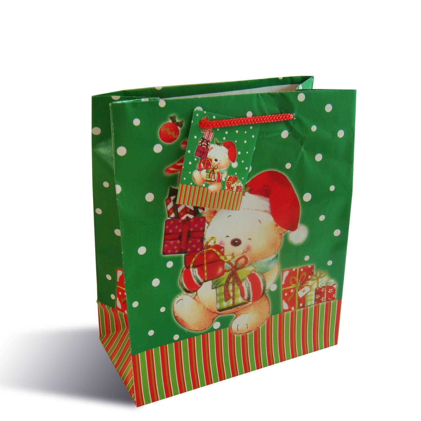 Christmas/Promotional Printed Paper Bag, Suitable for Gifts/Packing, Available in Various Sizes