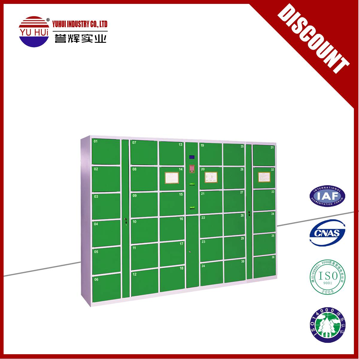 customized locking system supermarket deposit locker