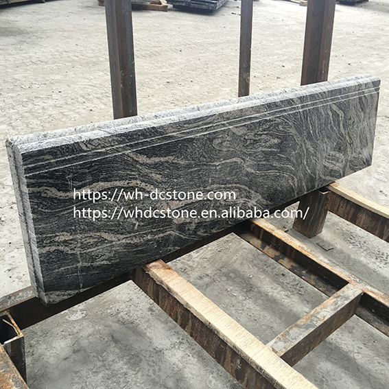 Natural polished China Juparana granite steps with black bottom