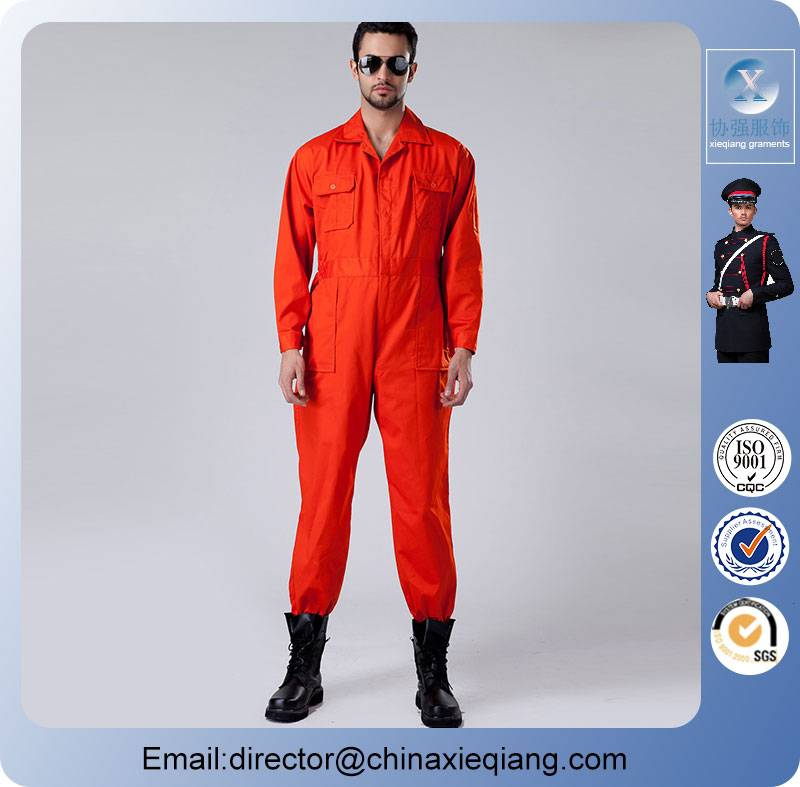 New arrivals custom-made orange worker coverall