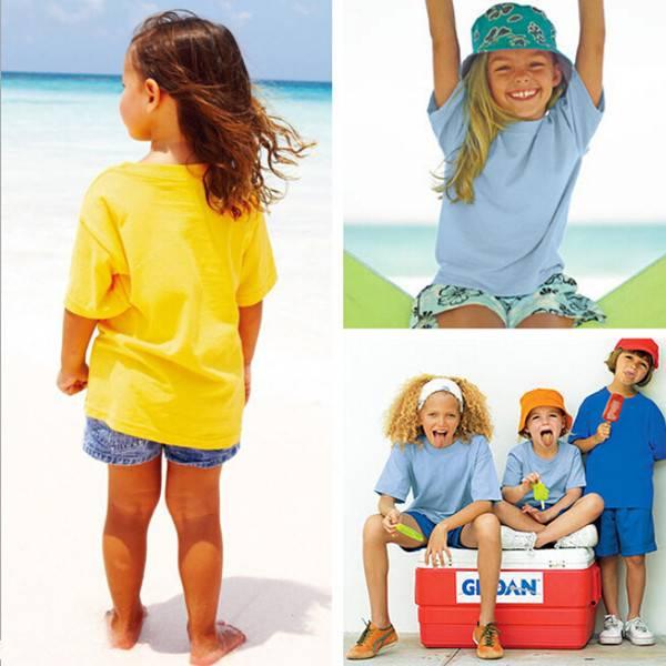 100% cotton children blank white T-shirt advertising kids o-neck t-shirt custom logo OEM
