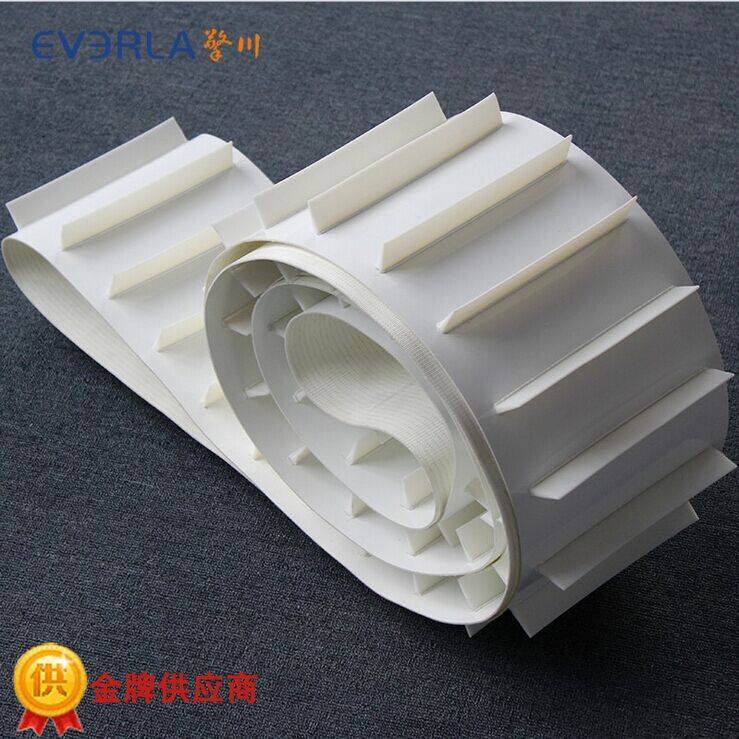 White PU Conveyor Belt Conveyor Line Climbing Transport Belt The Customized with a Customer