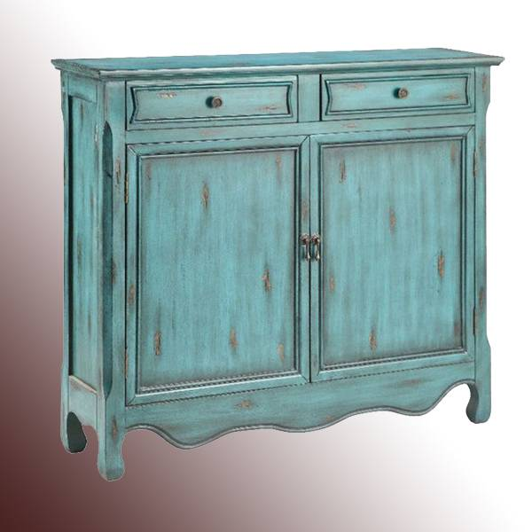 Vintage Wooden Blue Cheap Cabinets