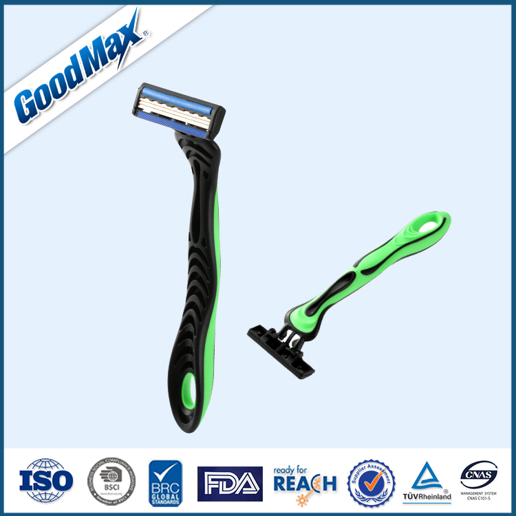 Triple Blade Disposable Razor with Lubricant