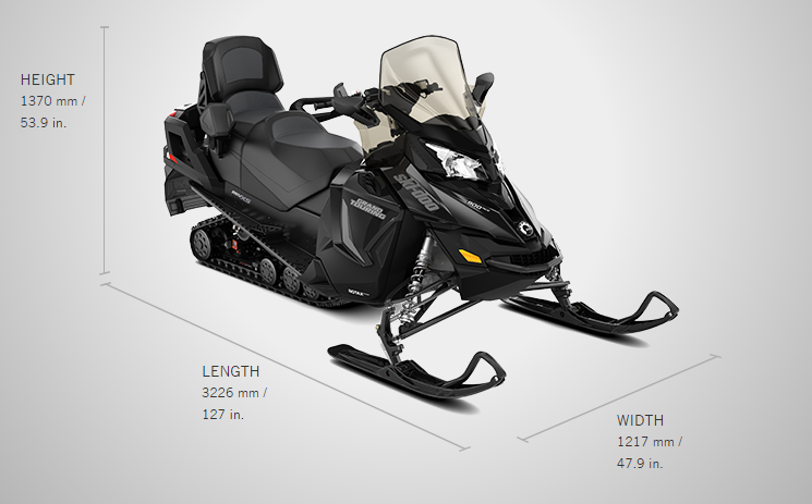 Brand new 2017 Ski-doo snowmobile Grand Touring LE