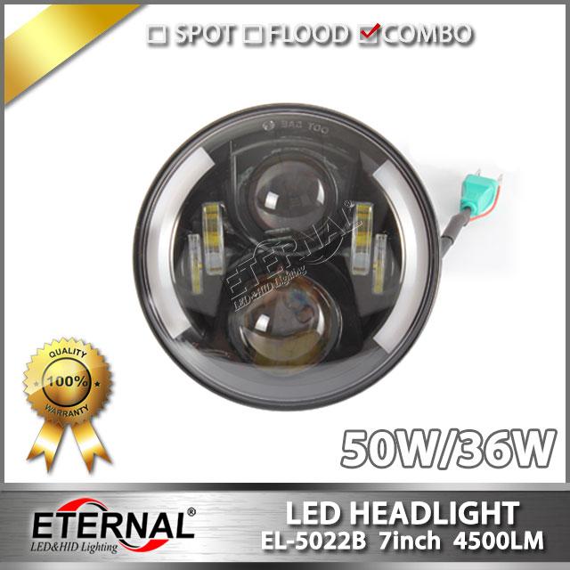 7in 4x4 headlight Speakers headlamp DRL projector headlamp with halo PAR56 for Wrangler JK CJ YJ TJ