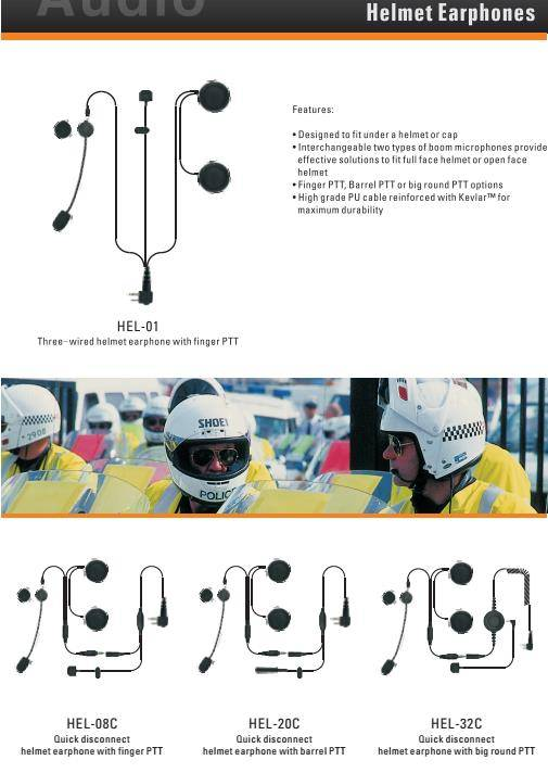 Helmet Earphones