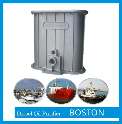 diesel oil filtering device for ships and RIGS