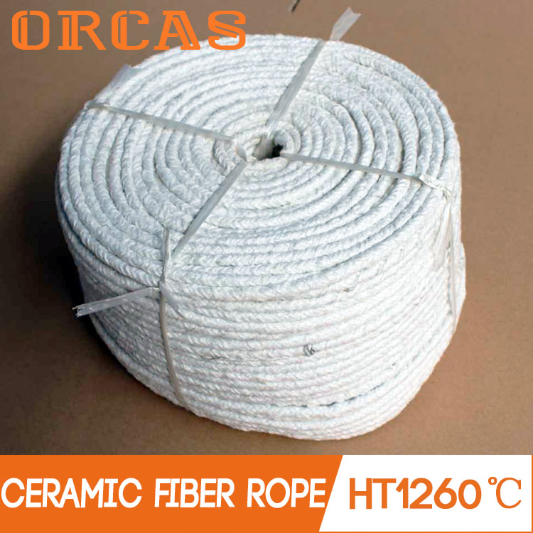 High temperature insulation round rope type ceramic fibre round rope