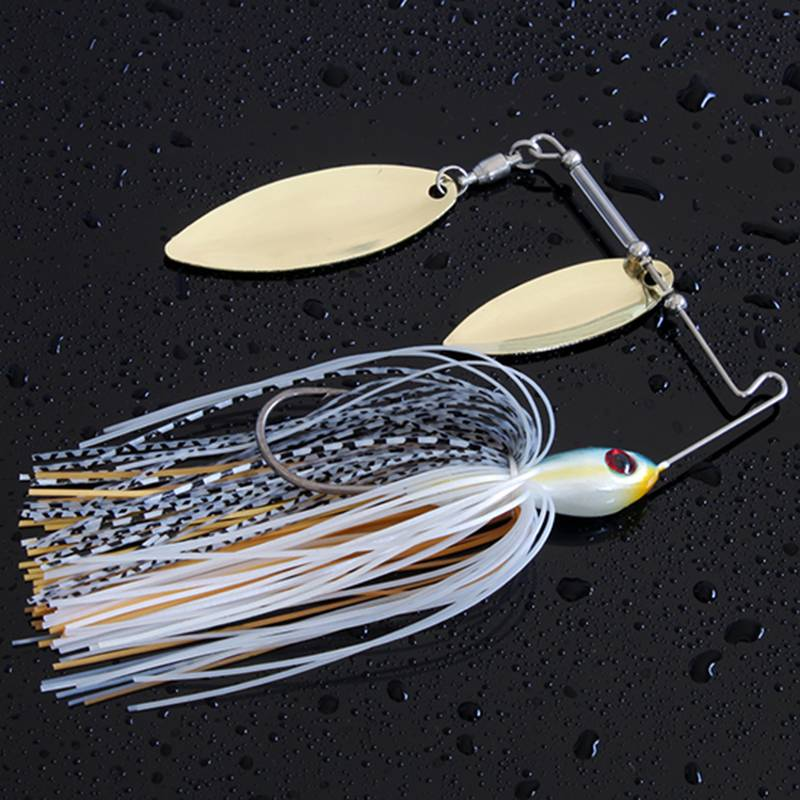 fishing lure bait with metal hook spinner bait lure