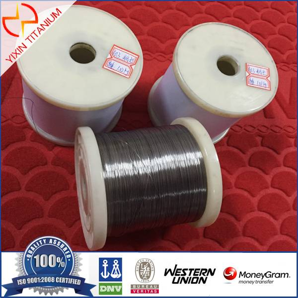 ASTM B863  Gr 1 Thinkness0.3mm Titanium Wire