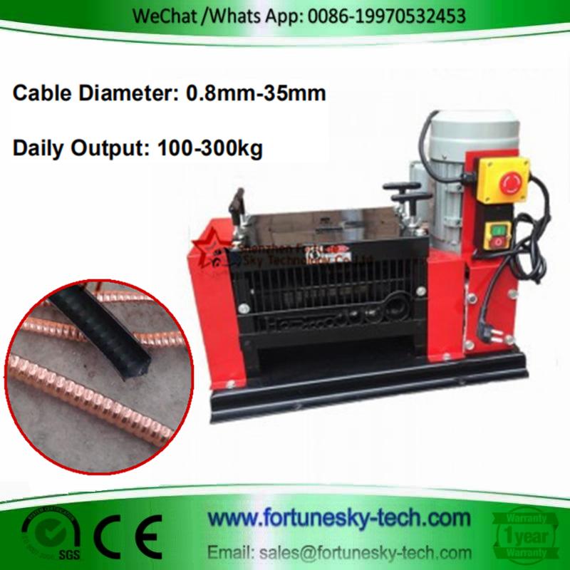 K308 Scrap Wire Cable Stripping Machine/Scrap Copper Recycling Machine