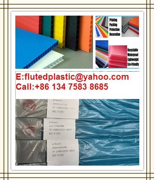 PP hollow sheet/Corrugated PP sheet/Correx board