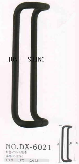 Stainless steel glass door pull matte black handle dx-6021