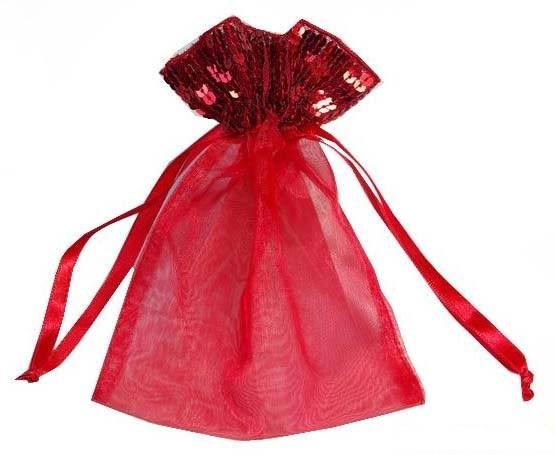 organza drawstring jewelry bag