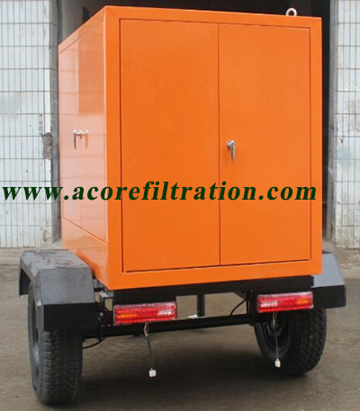 Vacuum Transformer Oil Filtration Machine Mounted On Trailer