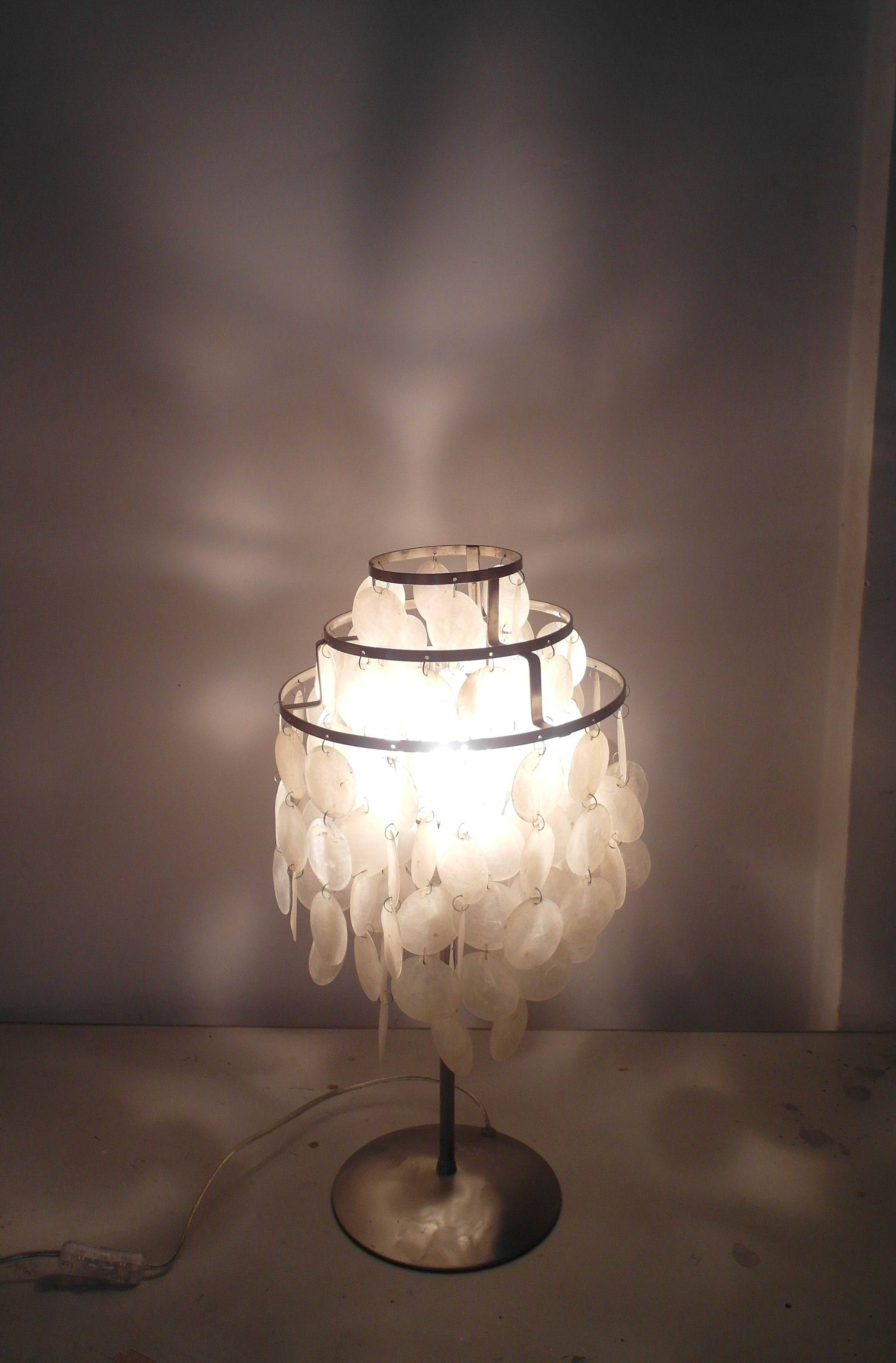 seashell chandeliers table lamp/white shell chandeliertable lamp/Capiz Shell table Light/chandelier