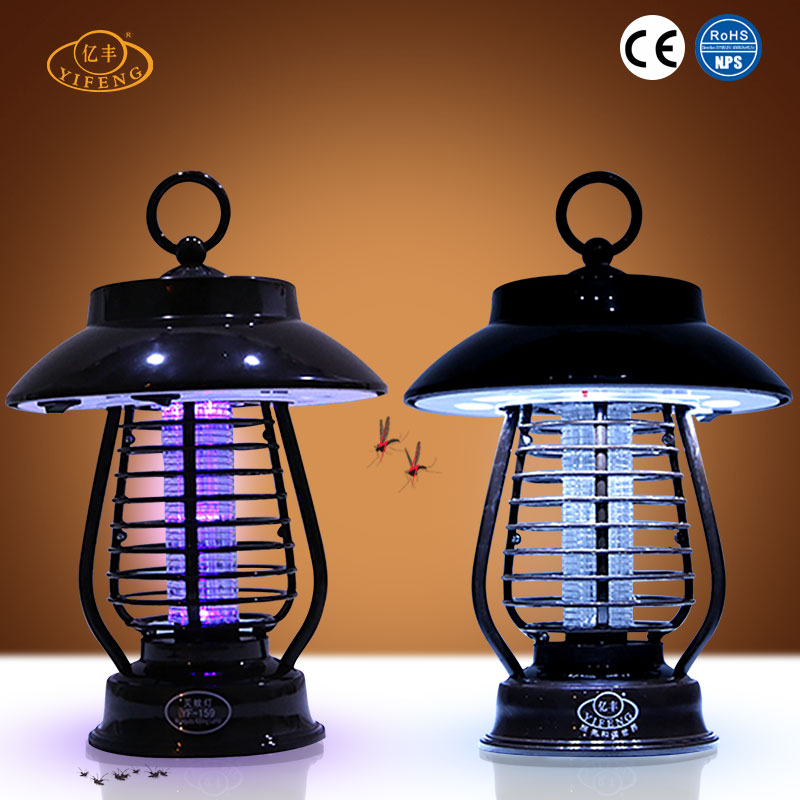 YiFeng YF-159 Intelligent Light-operated Switch Rechargeable Solar Powered Mosquito Killer Lamp