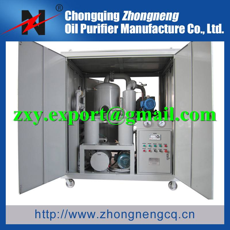 Double Stage Transformer Oil Purification Machine, High Vacuum Dielectric Oil Filtering Plant