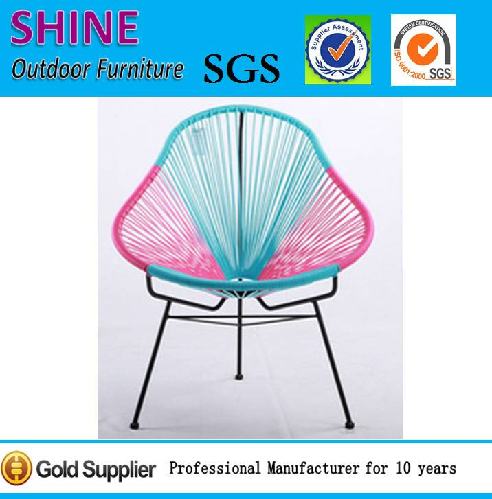 Outdoor Modern Colorful Woven rattan classic Acapulco bistro chair CT201401