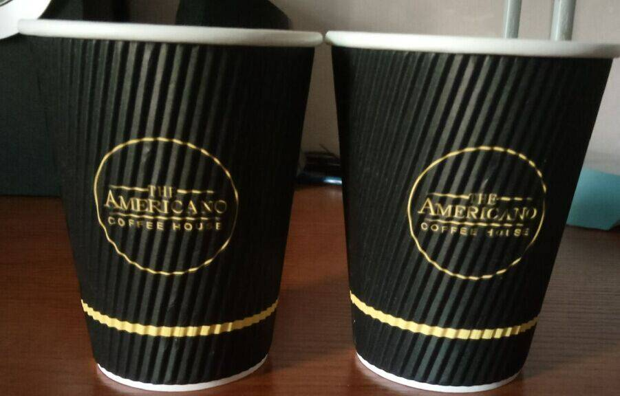 Low moq logo customized disposable paper cup for coffee 3-24oz